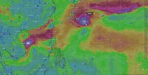 Previsione origine di due cicloni in oceano pacifico novembre 2020