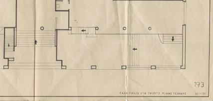 Scansione disegno originale parziale caseggiato Vai Trento 8 piano primo