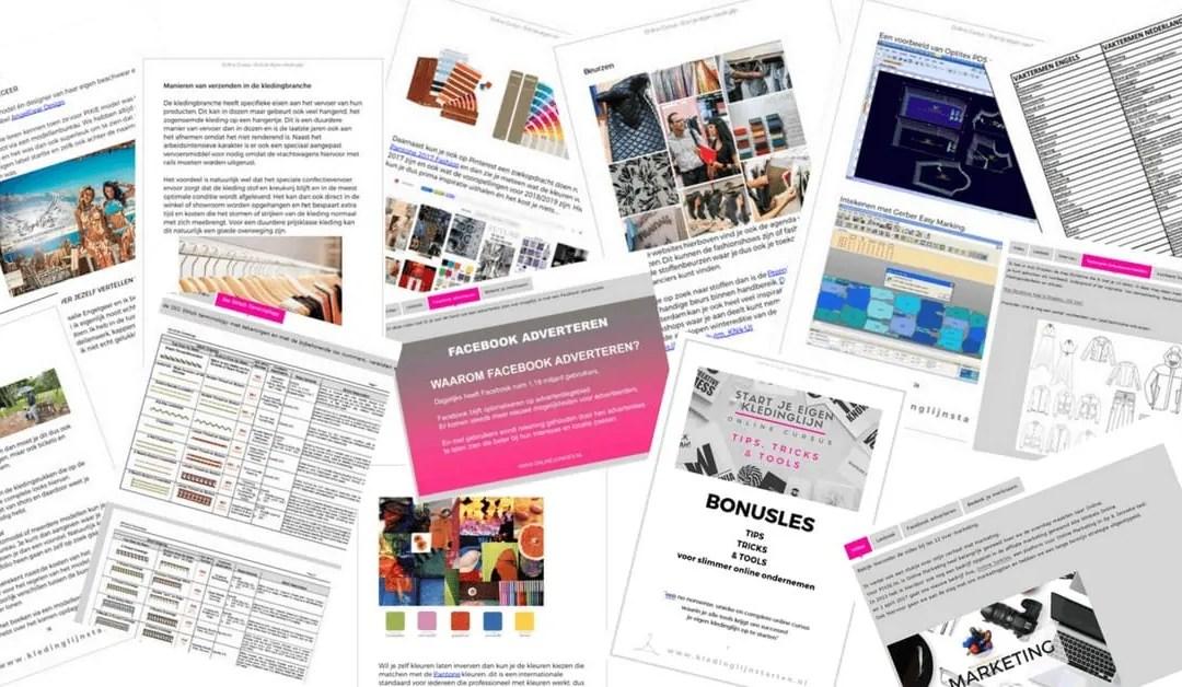 Je eigen kledingmerk beginnen – inhoud online cursus