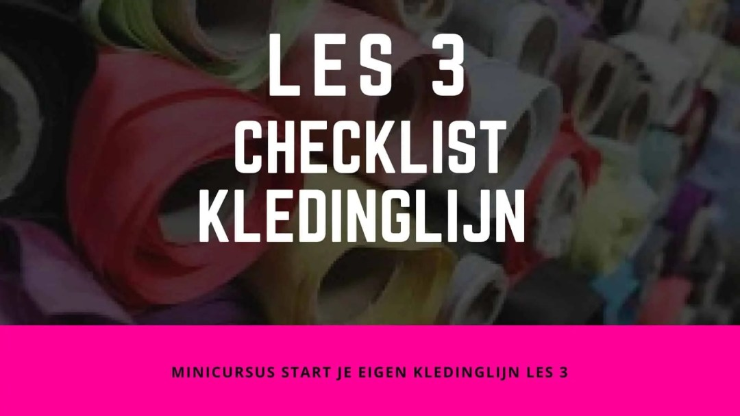 Checklist voor je start