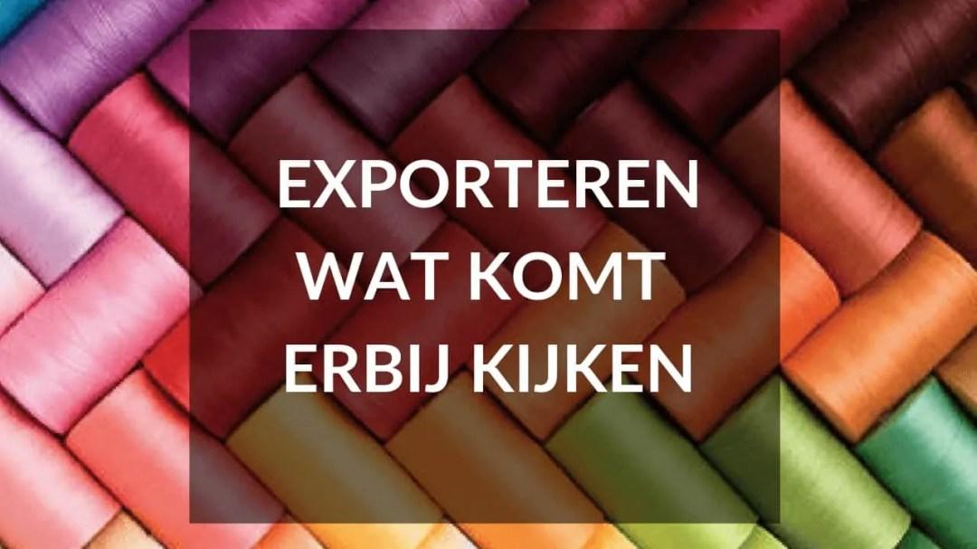 Start je eigen kledinglijn - Tip 11 - exporteren