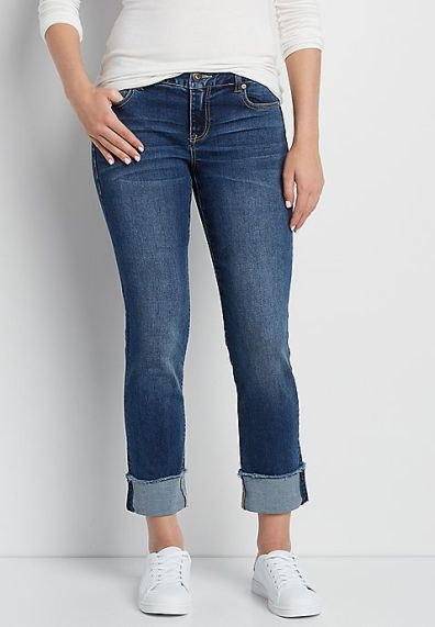 Cropped jeans grote maten