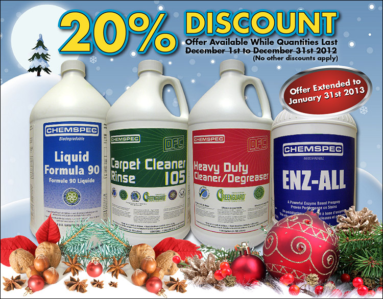 Chemspec Special Sale Extended to Jan. 31st 2013