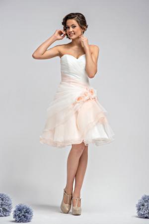 Standesamtkleid Kurz Rosa Weiß Kurzes Brautkleid