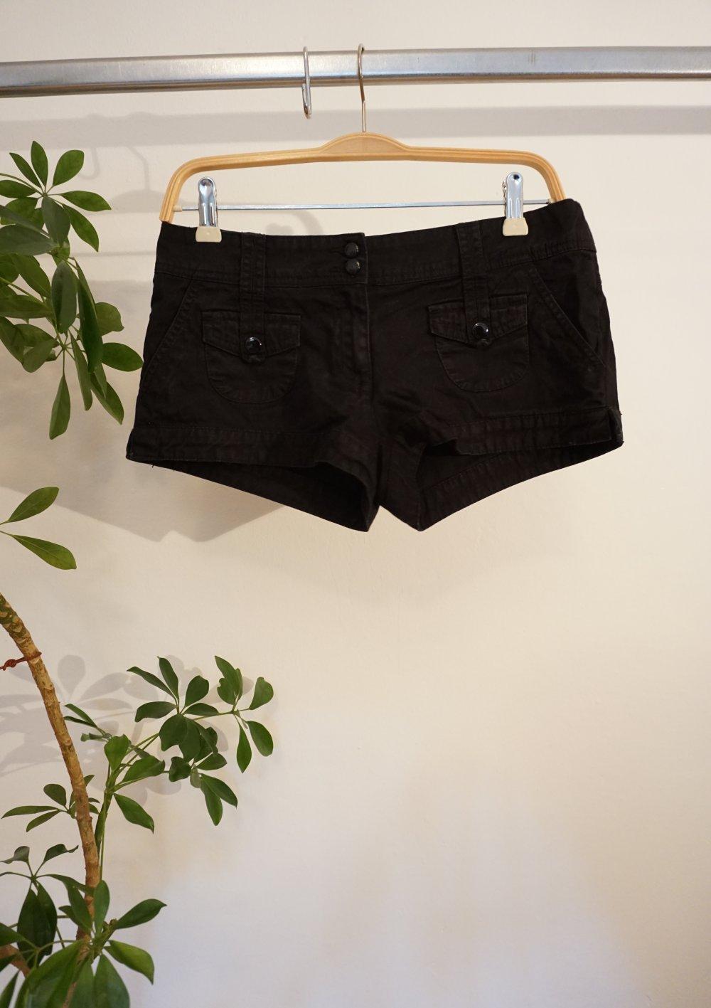 Schwarze Hotpants H M Kleiderkorb De