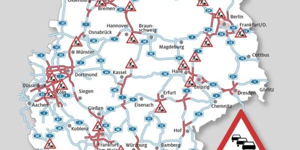 Zweite Reisewelle aus NRW – Stauprognose für 19. bis 21. Juli