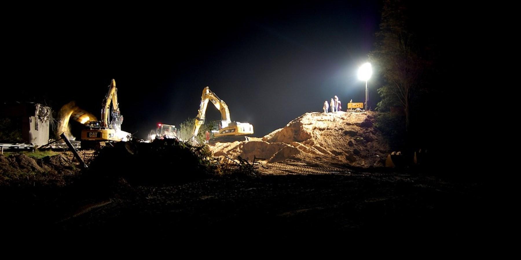 Nachtarbeit: Vollsperrung Am Stadtgraben