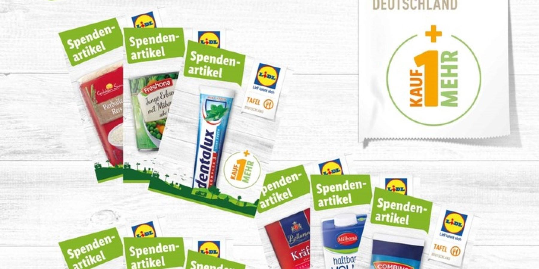 Mit Spendenkarten unkompliziert verschiedene Lebensmittelprodukte digital an der Kasse spenden