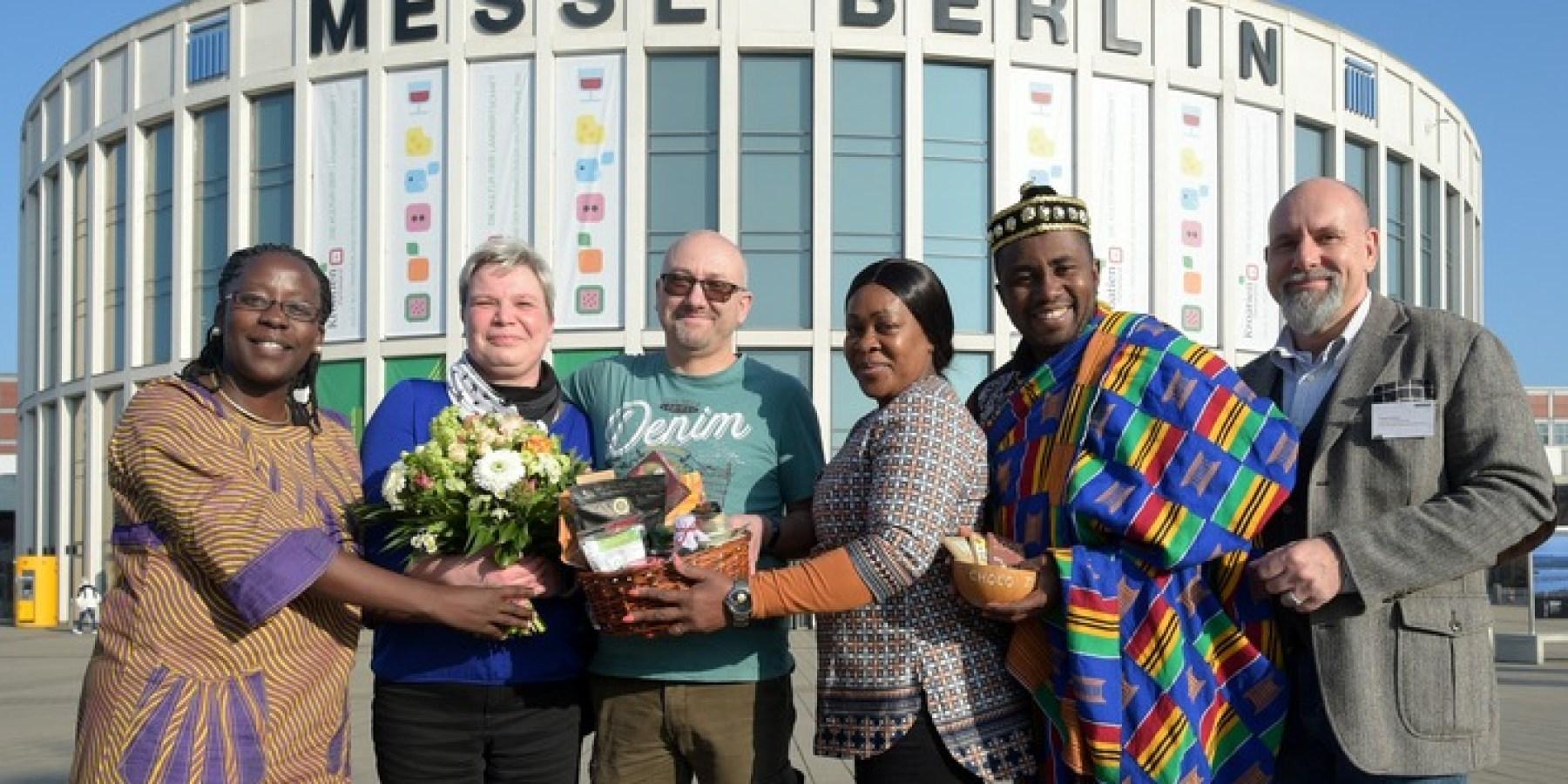Silke Schmidt ist die 300.000 Besucherin der Grünen Woche