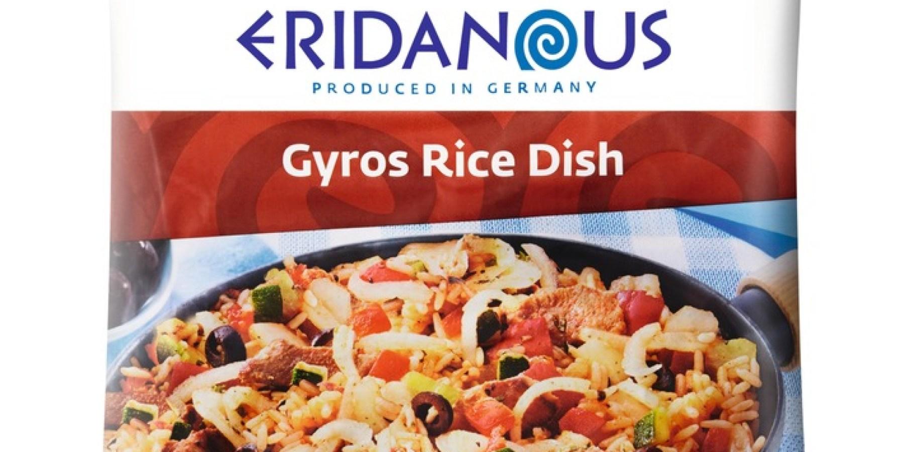 """Lidl Deutschland informiert über einen Warenrückruf des Produktes """"Eridanous Gyros Reispfanne (Gyros Rice Dish)"""