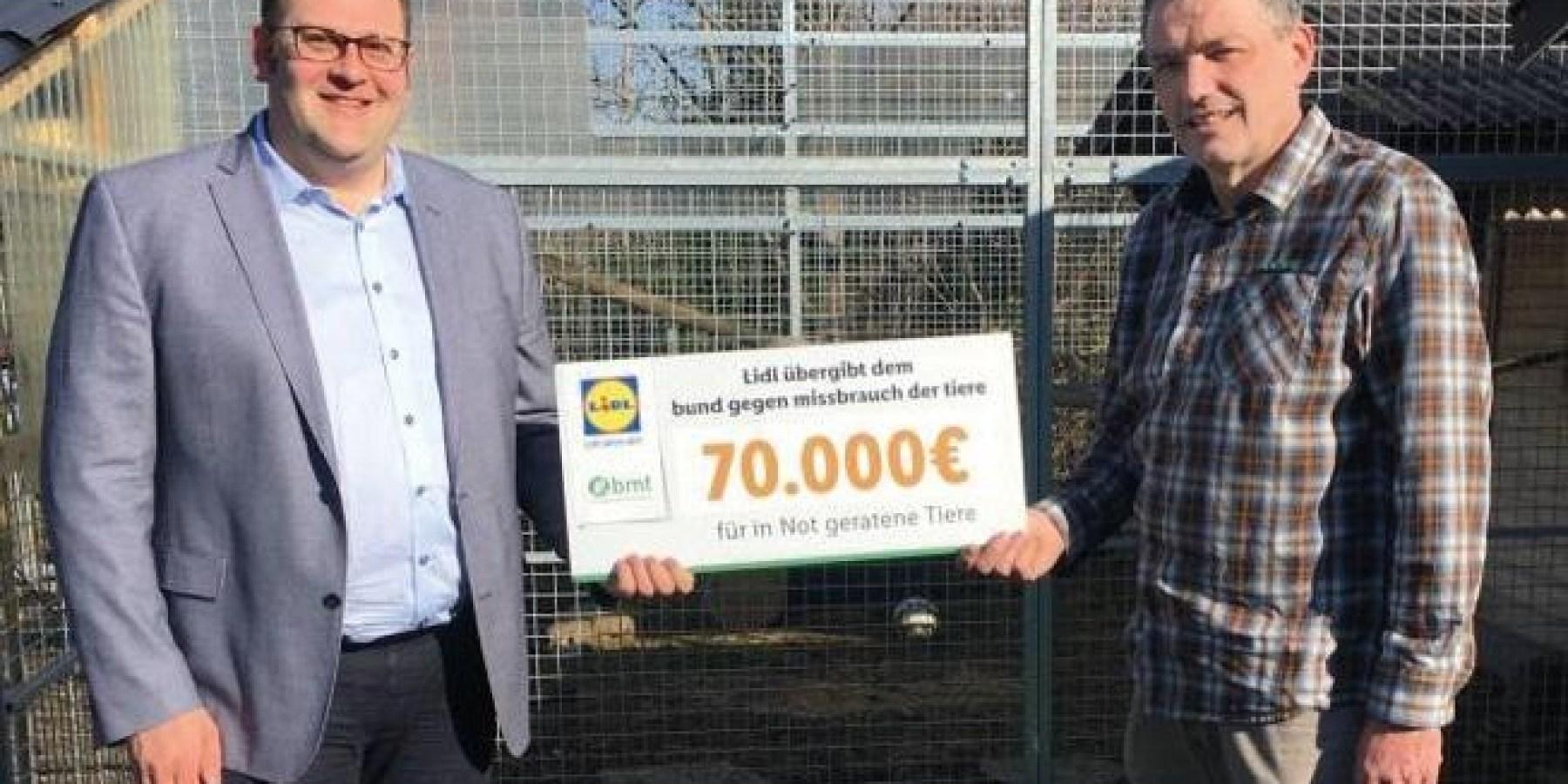 Lidl unterstützt den Bund gegen Missbrauch der Tiere mit 70.000 Euro
