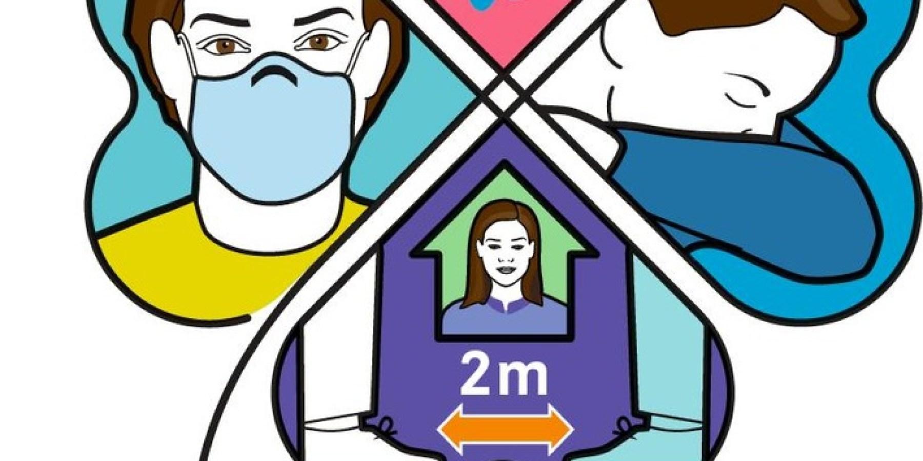 Kleeblatt-Kampagne: Vier Regeln für die Corona-Zeit schützen die Gesundheit