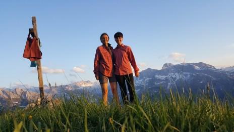 Selfie am Gipfelkreuz