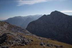Blick vom Wildpalfen auf das Große Teufelshorn mit dem Hochkönig im Hintergrund