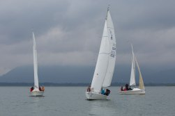 Die drei Segelboote