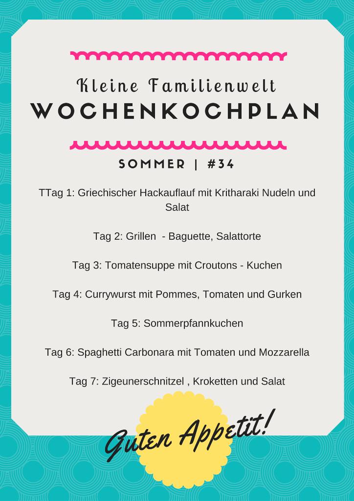 Wochenkochplan #34