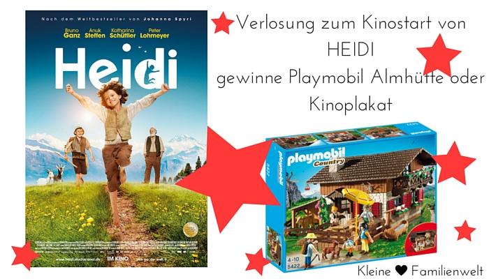 Verlosung Heidi Almhütte Playmobil und Plakat