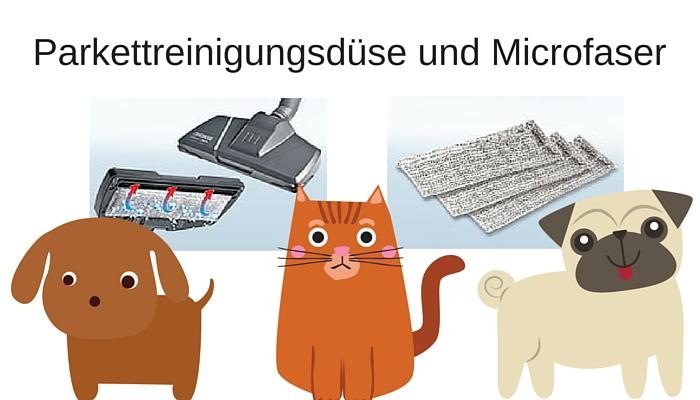 Parkettreinigungsdüse und Microfaser