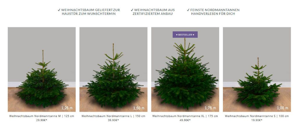 Weihnachtsbaum online kaufen bei Tante Tanne