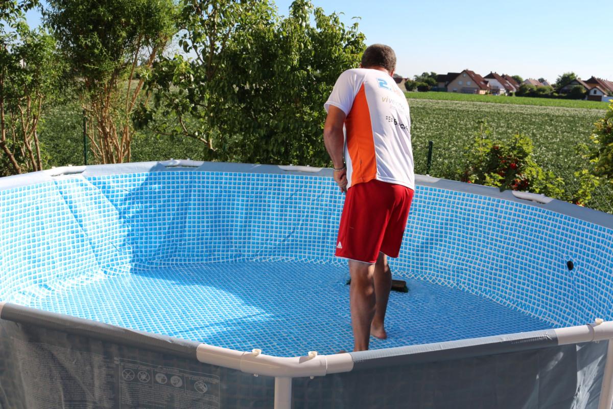 sommer! wir bauen unseren neuen intex pool auf