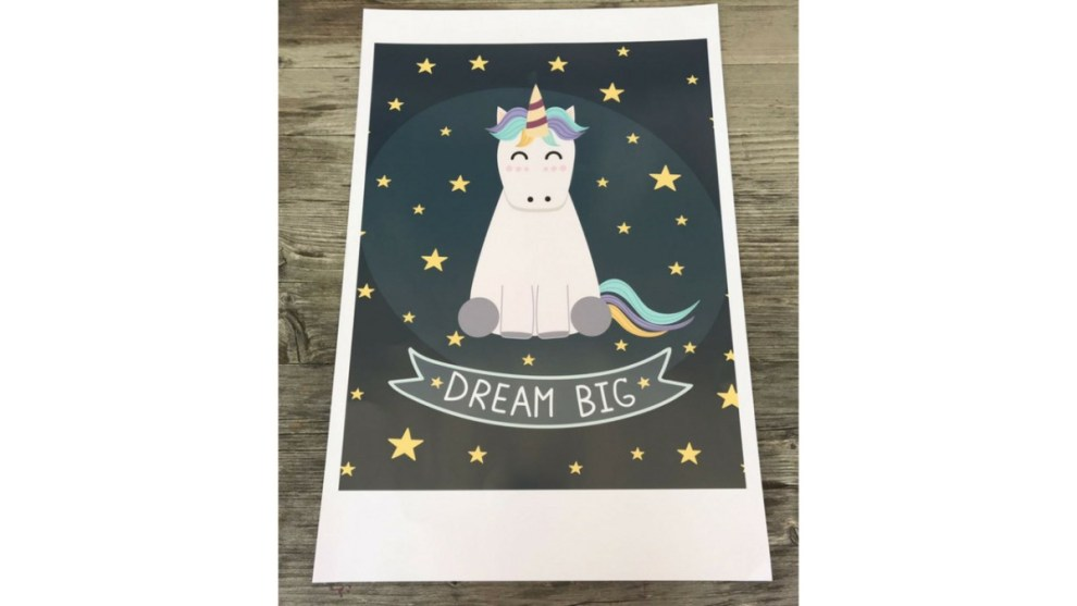 Einhorn Poster Dream Big
