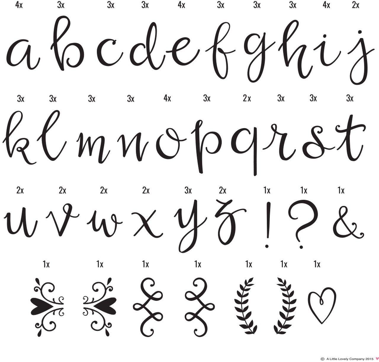 Lightbox Letter Set Script A Little Lovely Company