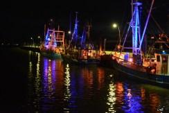 Auch die Krabbenkutter am Wremer Tief waren Teil der Illumination