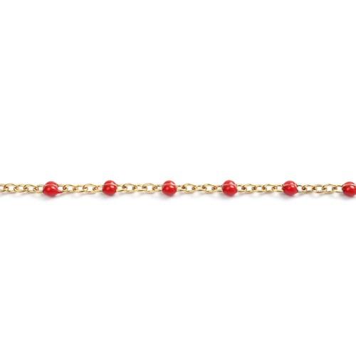Sommerkette gold-rot 60 cm