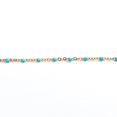 Sommerkette gold-türkis 45 cm