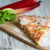 Rhubarbstaart - Rhabarber Torte
