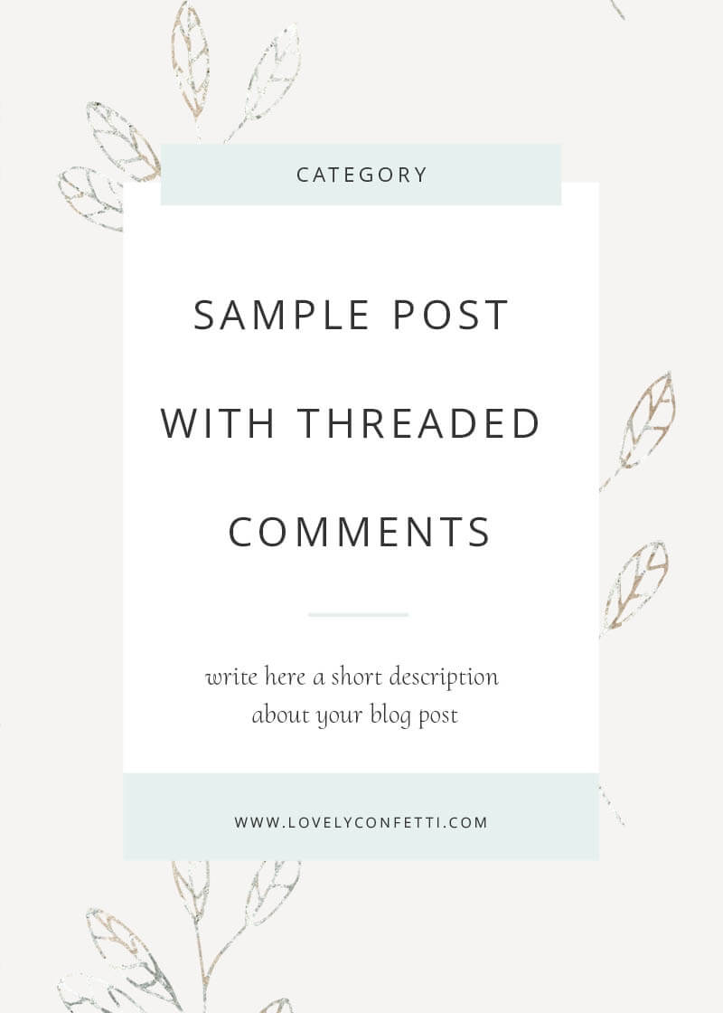 Sample Post With Threaded Comments