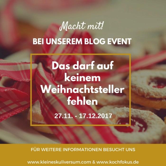 Blog Event: Das darf auf keinem Weihnachtsteller fehlen