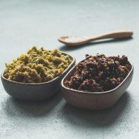 Zweierlei französische Oliventapenade