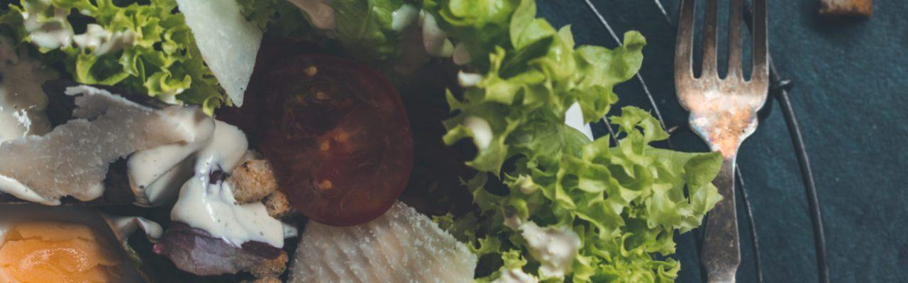 vegetarischer Caesar Salat
