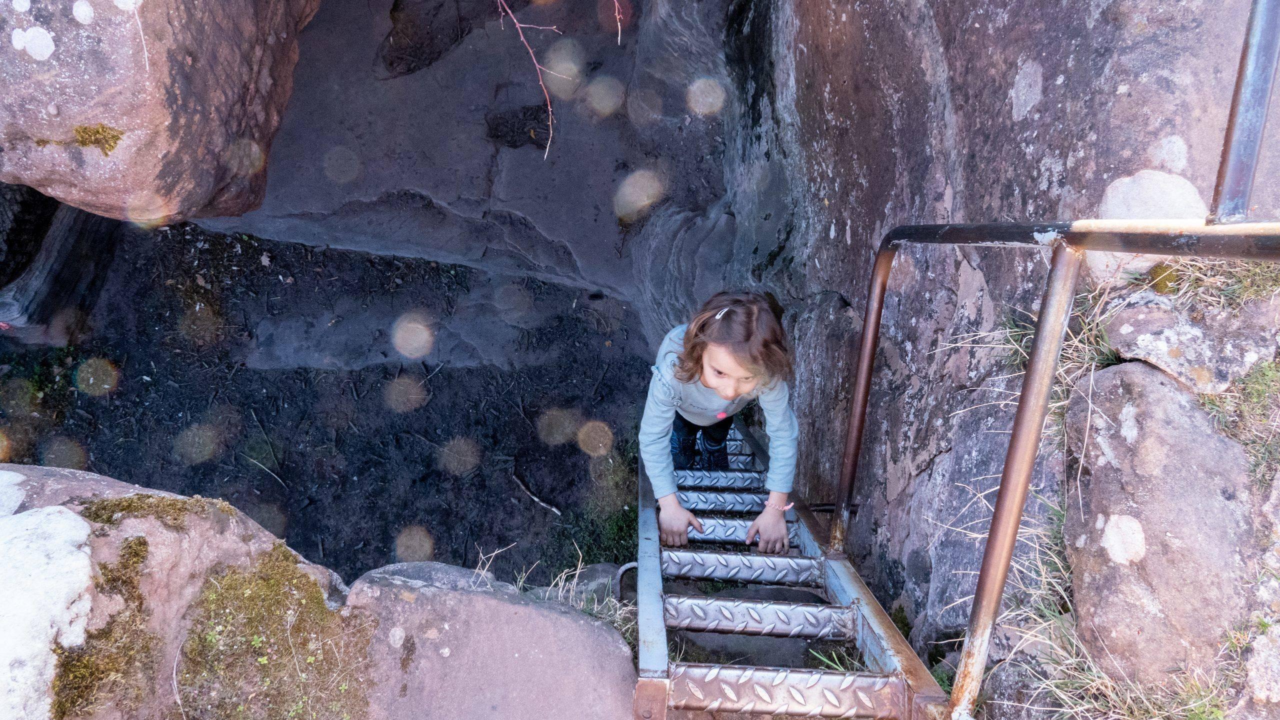 Burgruine Wasigenstein Treppe