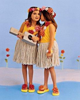DIY hula girls costume