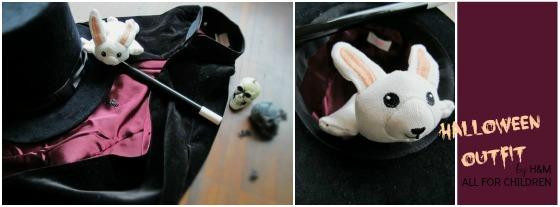 magician costume by h&m UNICEF all for children halloween outfit zauberer zauberhut, kaninchen,rabbit, wand, zauberstab