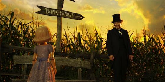 Disney's Die fantastische Welt von Oz Filmausschnitt Regie Sam Raimi mit James Franco, Mila Kunis, Rachel Weisz, Michelle Williams, Zach Braff