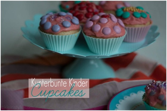 colorful Cupcakes kunterbunte kinder cupcakes by kleinstyle.com