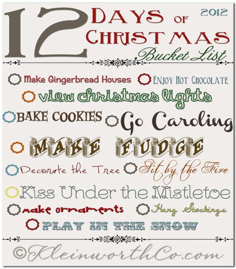 12 days of christmas bucket list free printable eggnog french toast homemade holiday treats kleinworth co