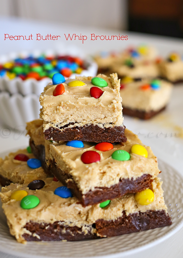 Peanut Butter Whip Brownies {Kleinworth & Co}