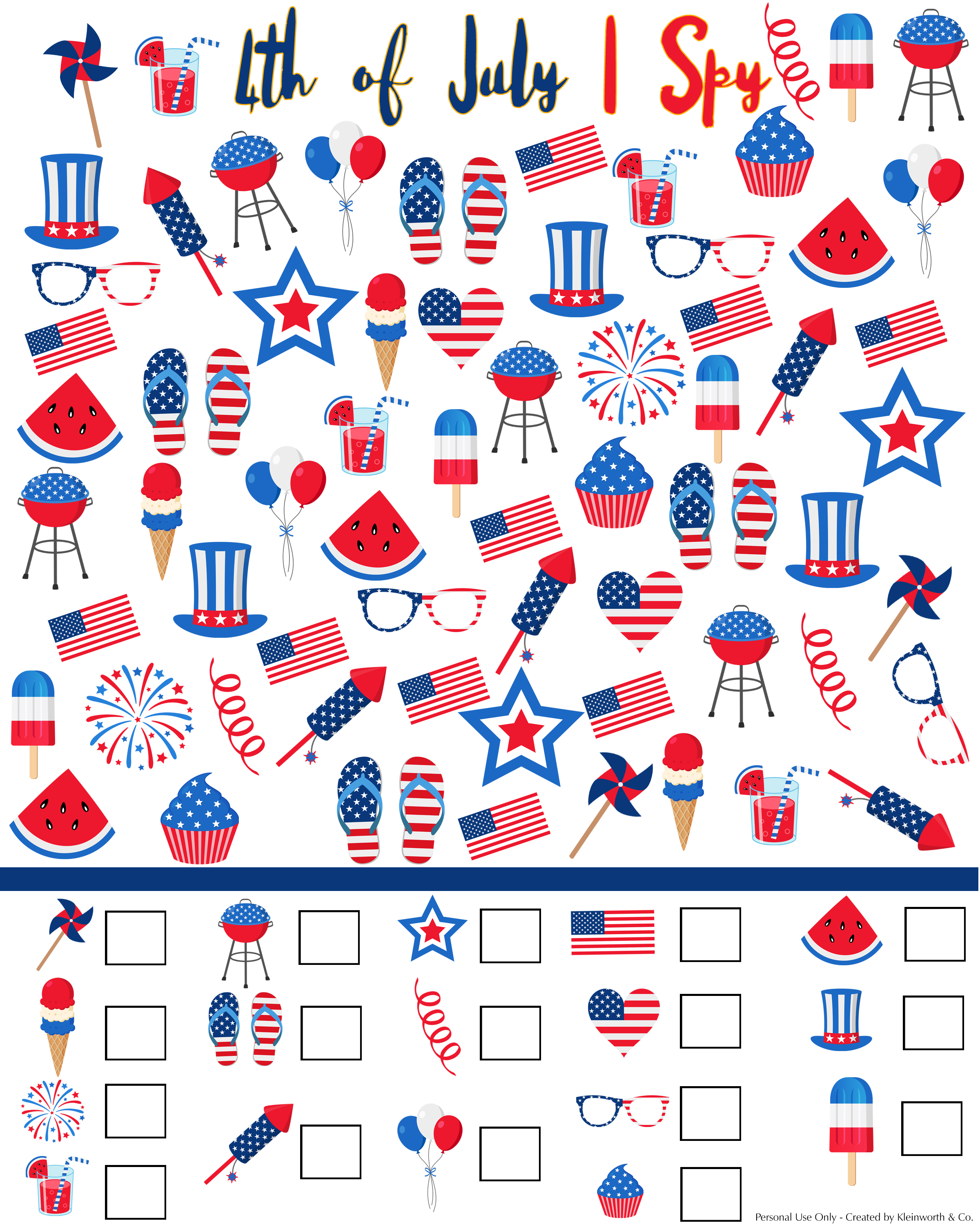 Rhyming Worksheet 4th Of July