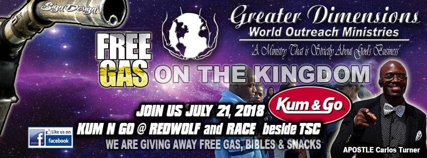 Greater Dimensions is Giving Away Free Gas!