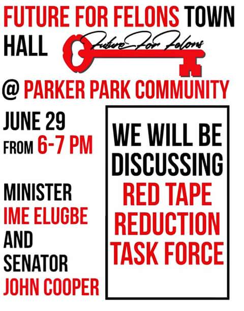 Future For Felons Town Hall June 29th