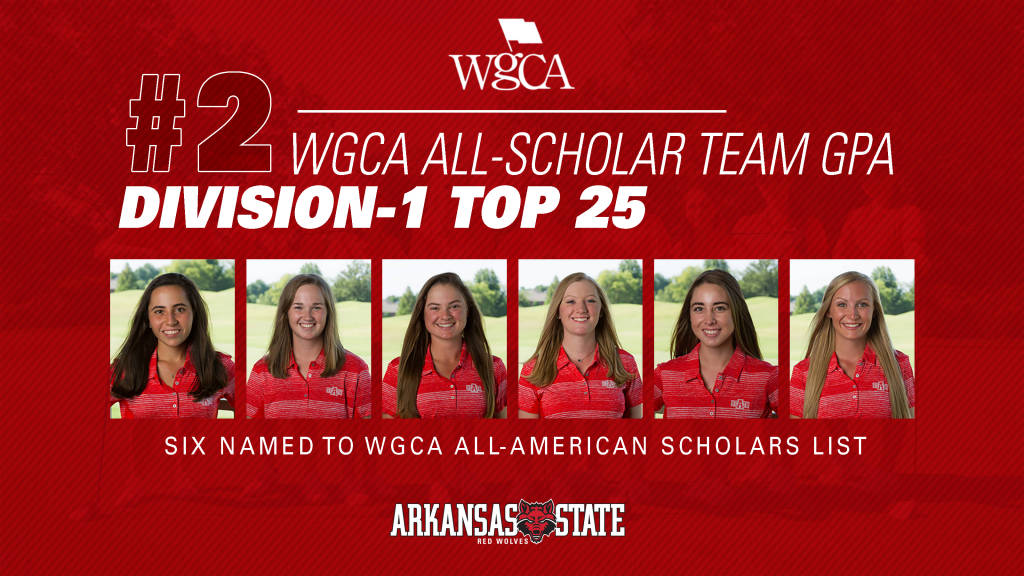 Red Wolves Claim Second on WGCA All-Scholar Team GPA List
