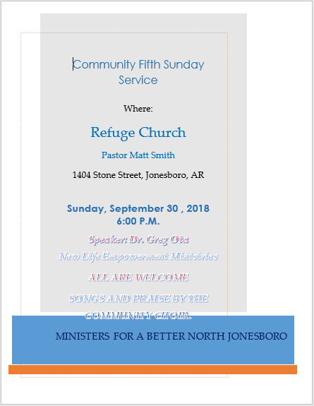 Community Fifth Sunday Service