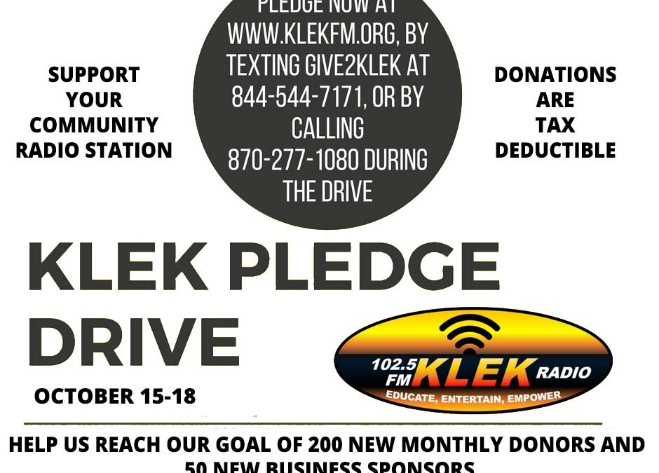 KLEK Fall Pledge Drive doubles our number of monthly donors and raises $4300.00 in pledges