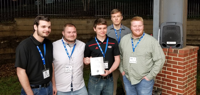 Civil Engineering Team Wins in Deep South Competition