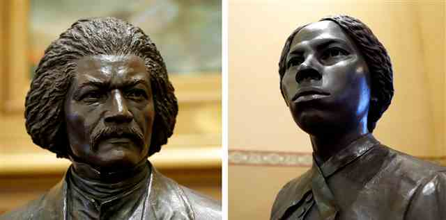 Harriet Tubman and Frederick Douglass Statues Installed in Maryland State House