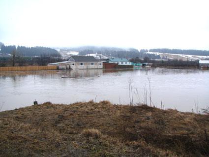 Небольшое наводнение в с.Кленовском